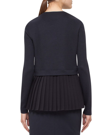 Pleated-Back Jersey Sweatshirt