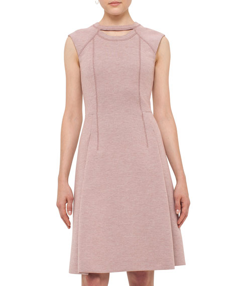 Keyhole Sleeveless A-Line Dress