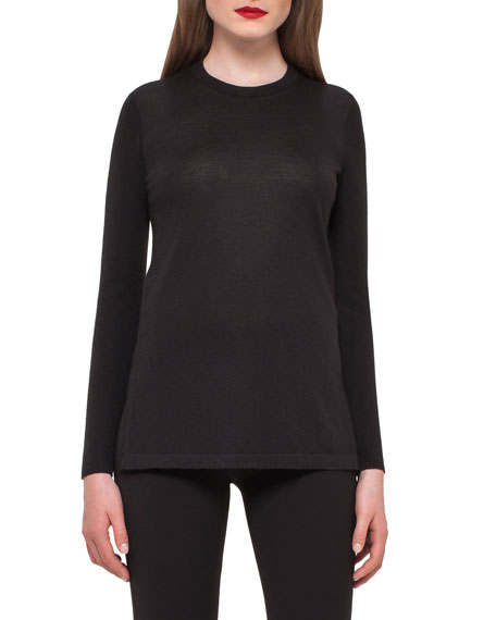 Akris Cashmere Crewneck Tunic Sweater