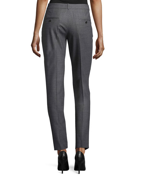 Samantha Skinny Gun-Check Pants