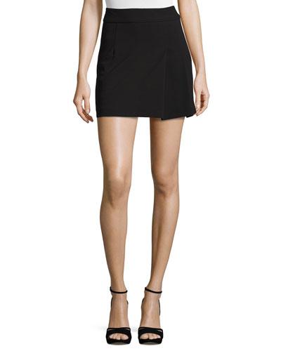 Black Pencil Mini Skirt