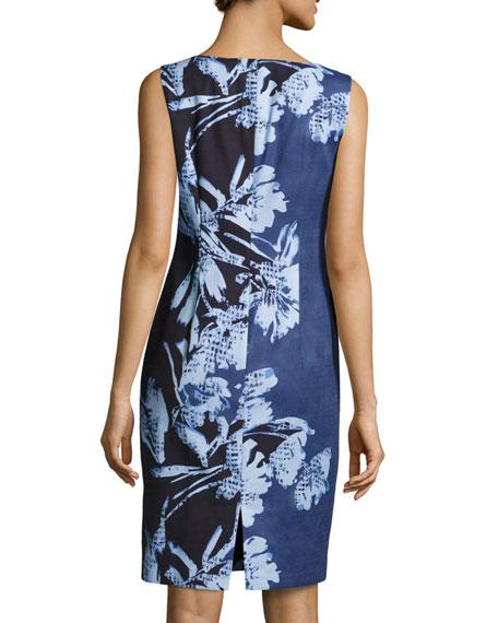 Faith Sleeveless Floral-Print Sheath Dress, Multi