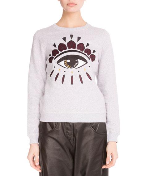 Light Brushed Cotton Eye Sweatshirt, Light Gray