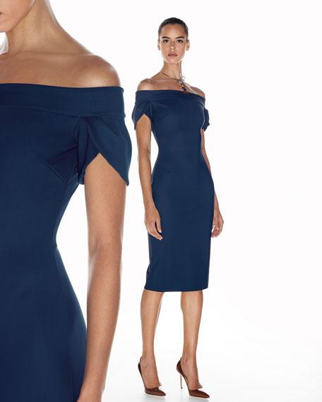 Maelle Off-the-Shoulder Sheath Dress