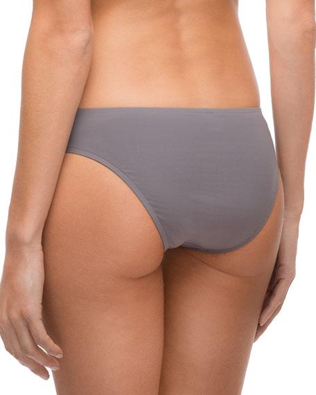 Ajourage Couture Low-Rise Swim Bikini Bottom, Black
