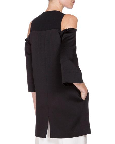 Cassels 3/4-Sleeve Duster Coat, Black