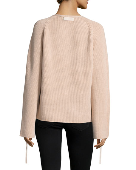 Ribbed Wool-Blend Pullover Sweater Sale