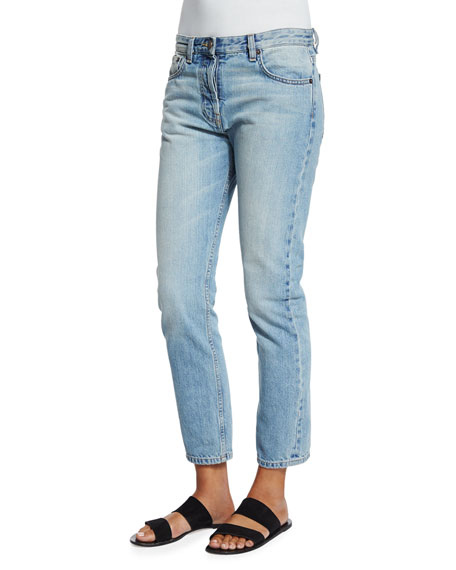 THE ROW Ashland Slim-Leg Ankle Jeans, Indigo