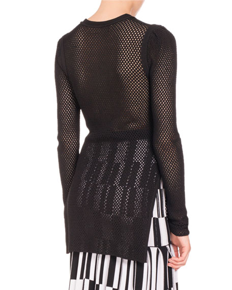 Mesh Long-Sleeve Tunic