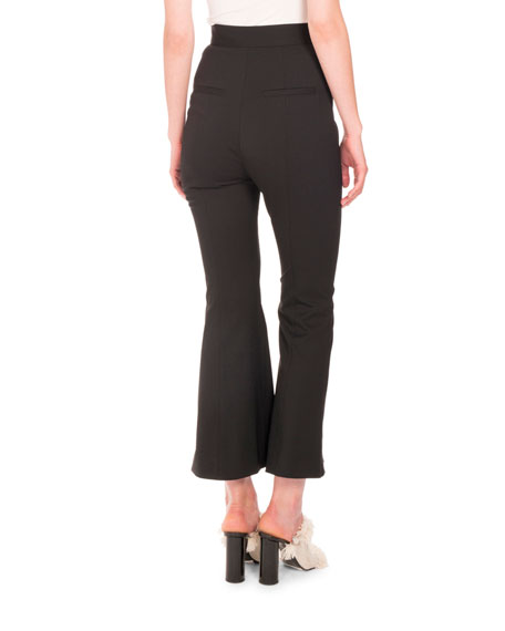Flared Wool Suiting Pants
