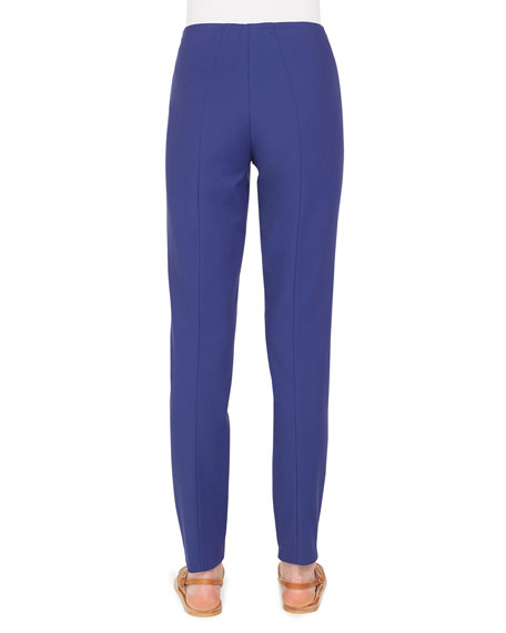 Melissa Straight-Leg Stretch-Cotton Pants