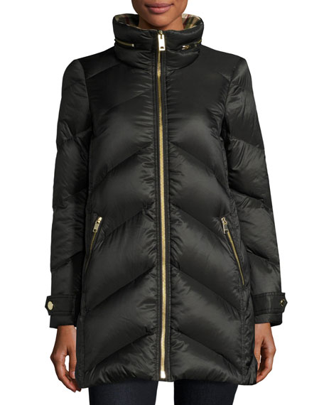 Burberry Chevron Quilted Down Puffer Coat