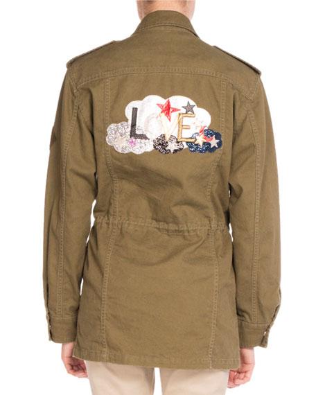 Love-Patch Field Jacket, Khaki