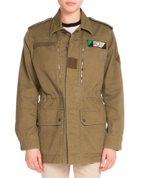Love-Patch Field Jacket, Khaki