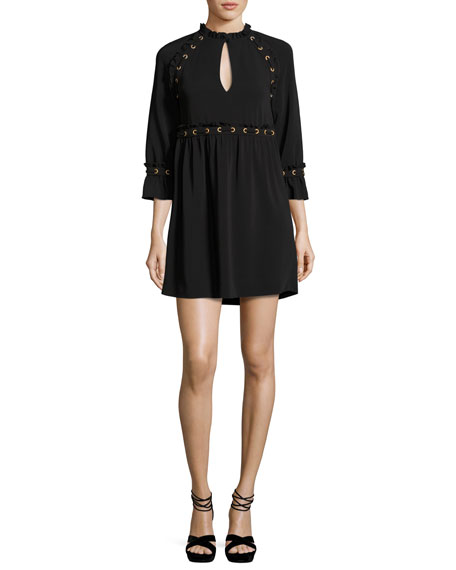 Rachel Zoe Ursula Laced Cady Dress, Black