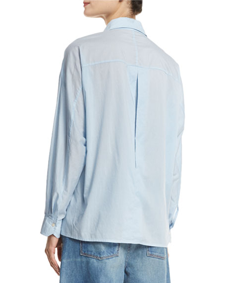 Easy Button-Front Shirt
