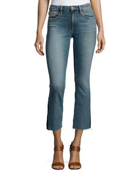 FRAME Le Crop Mini Boot-Cut Gusset Jeans, Austin