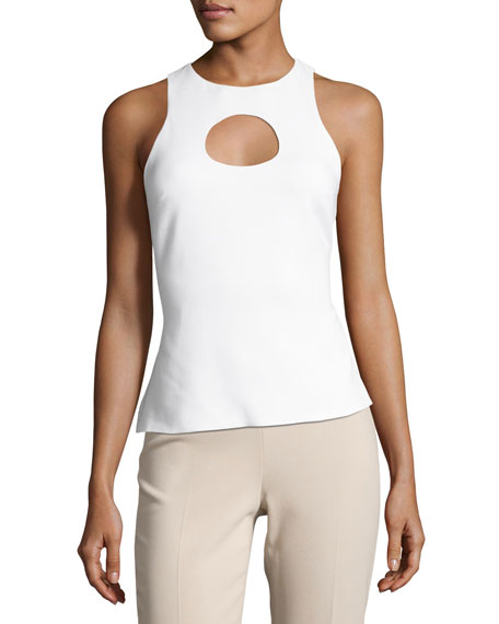 Cushnie Et Ochs BLSE/ SLVES TOP WITH CIRCLE