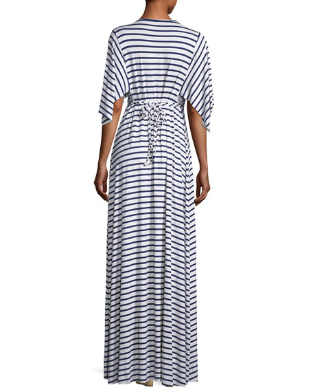 Striped Caftan Maxi Dress