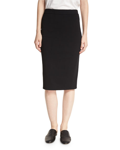 Jersey Pencil Skirt, Black