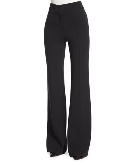 Georgia Crepe Flare-Leg Pants