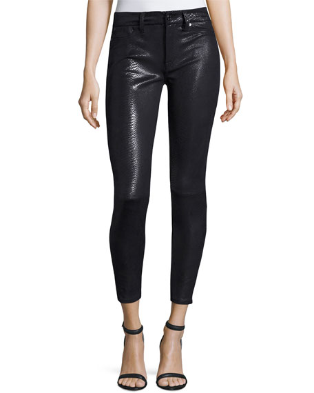 7 For All Mankind The Knee Seam Snake-Embossed