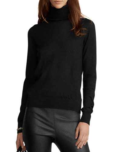 Long-Sleeve Cashmere Turtleneck Sweater