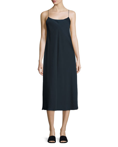 Bias-Cut Midi Slip Dress