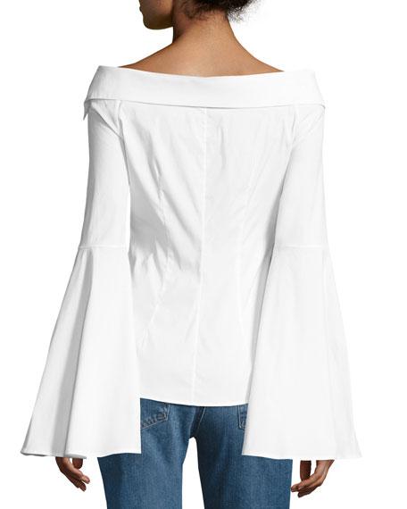 Persephone Decollete Shirt, White