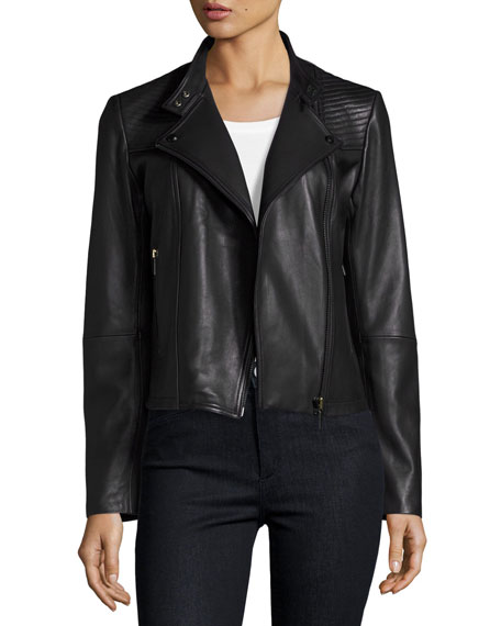 Neiman Marcus Quilted Leather Moto Jacket : neiman marcus quilted leather jacket - Adamdwight.com