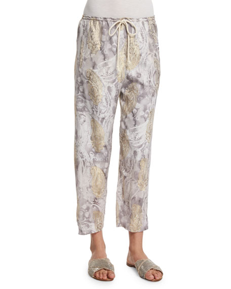 Foundrae Silk Paisley Lounge Pants