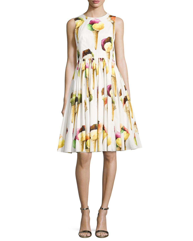 61d95faa11 Dolce   Gabbana Sleeveless Ice Cream Poplin Dress