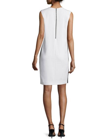 Bold Floral-Print Sleeveless Shift Dress