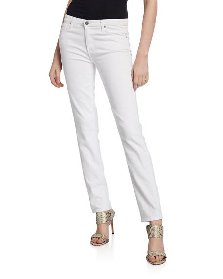 AG Adriano Goldschmied Prima Mid-Rise Cigarette Jeans, White