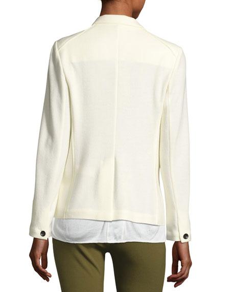 Wool Club Jacket, White