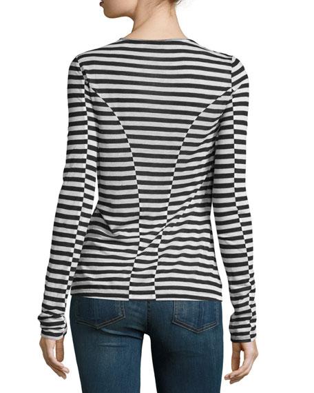 Arrow Striped Long-Sleeve T-Shirt