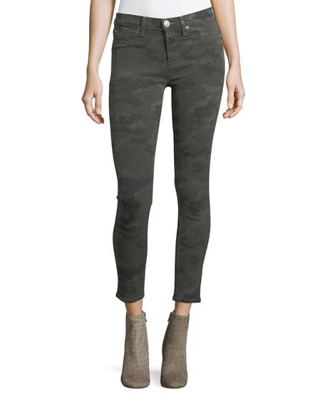 Nico Mid-Rise Super Skinny Jeans, Trooper Green