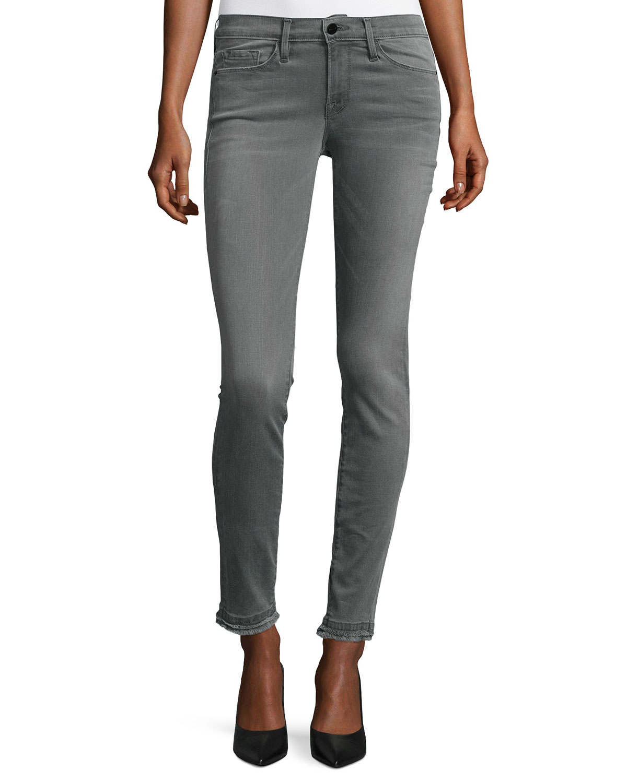 7f4c0a8036e5 FRAME Le Skinny de Jeanne Double Raw-Hem Jeans