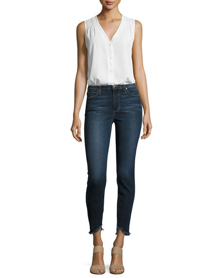 The Charlie Ankle Skinny Jeans with Frayed Hem, Tania
