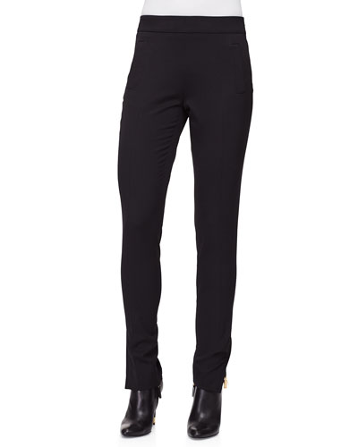 Slim-Leg Side-Zip Pants