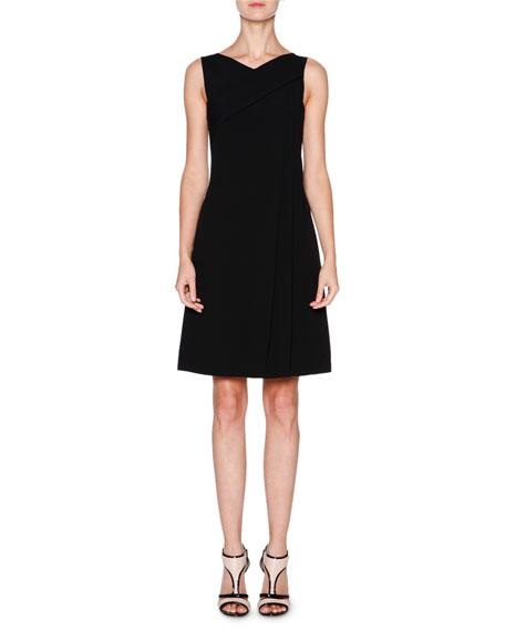 Giorgio Armani Sleeveless Grecian-Drape Dress, Black