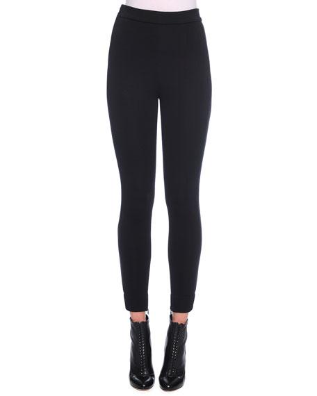 Dolce & Gabbana Ankle-Zip Leggings, Black