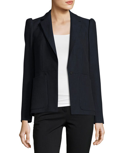 Slub Suiting Jacket, Navy