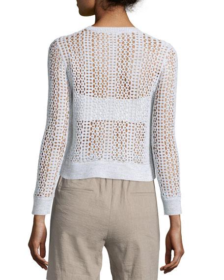 Krezia B Iras Crocheted Knit Cropped Sweater
