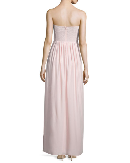 Bayou Strapless Sweetheart-Neck Gown