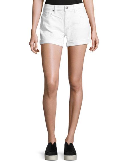 True Religion Emma Cuffed Denim Bermuda Shorts, Optic