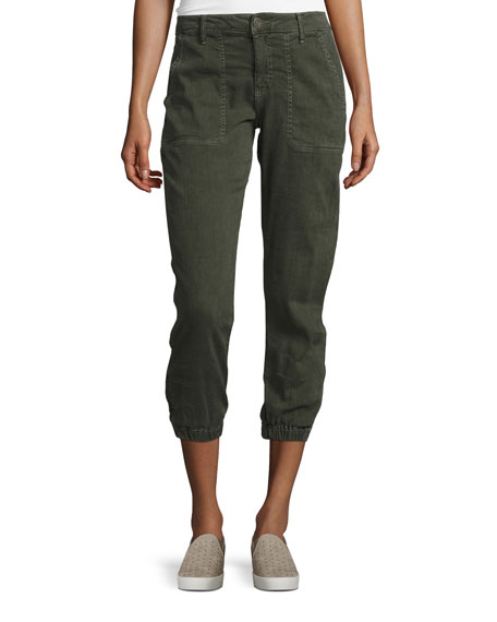 Dolorita Cropped Cargo Pants, Green
