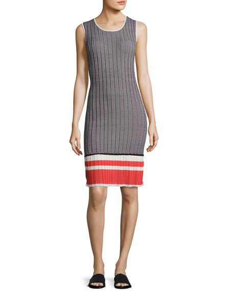 GREY by Jason Wu Chevron-Knit Tank Dress, Multi
