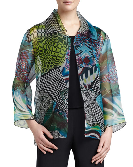 Caroline Rose Patchwork Easy Shirt/Jacket