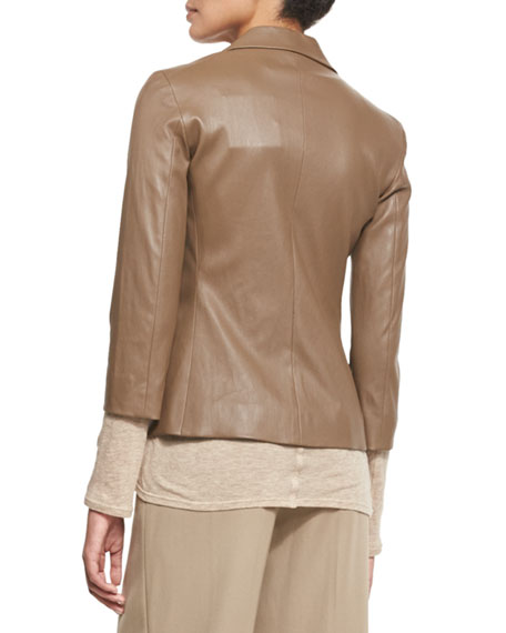 Noblan Leather Blazer